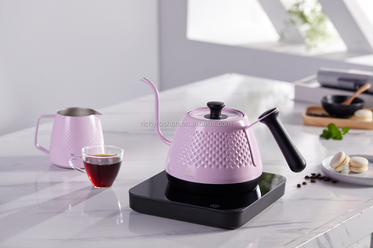 japanese style electrical pour over coffee kettle 600ml coffee tools