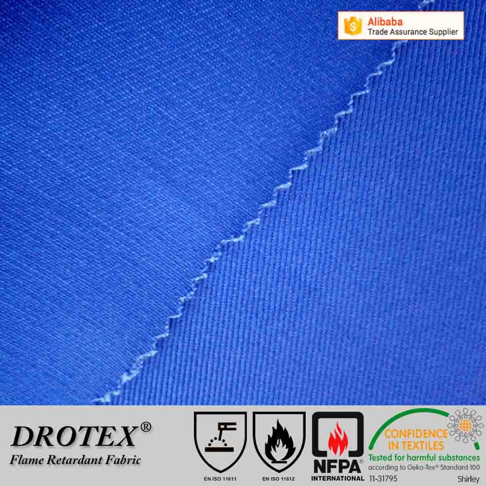 China manufacturer 100 polyester fire retardant fabric for safety clothing