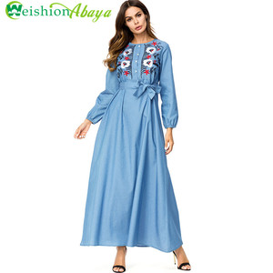 Newest Dubai Fancy Kaftan Abaya Ladies Wholesale Maxi Muslim Dress