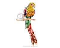 High quality enamel bird brooch, rhinestone brooch from alibaba manufacturer BRL024