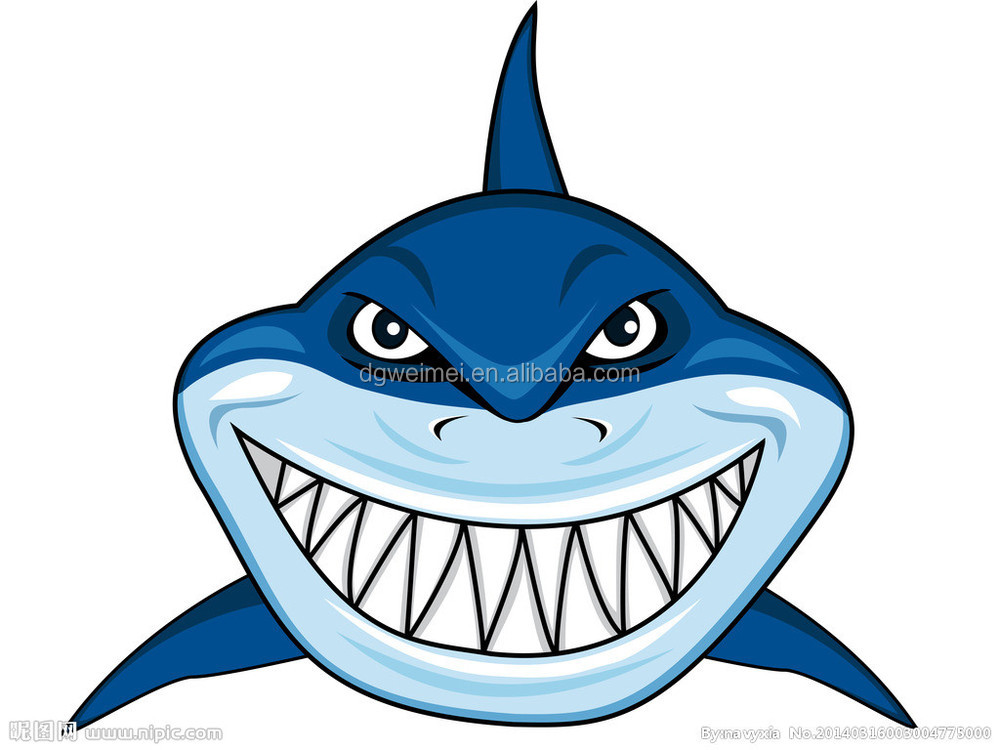 Hot Sale Horrible Shark Tattoo Stickers With Non-toxic