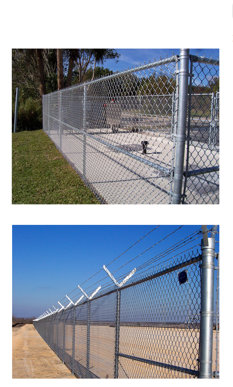 Hot dip galvanized chain link fence prices