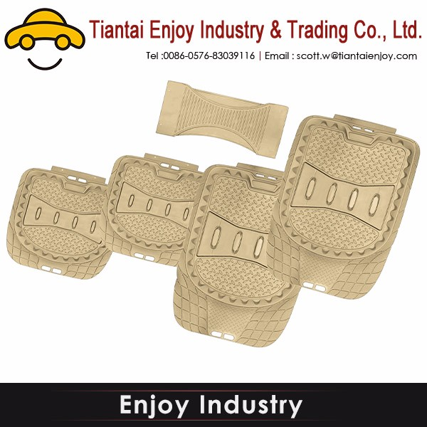 Anti-slip 3D brown leather Hot sale car mat materials