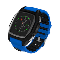 IP57 waterproof touch screen bluetooth phone watch, stainless steel camera hand watch mobile phone with heart rate test