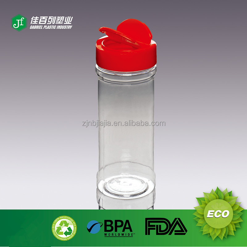 Fast delivery 100ml clear spice jar shaker pet plastic spice jar