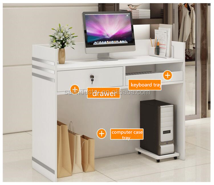 Office Furniture White Reception Desk