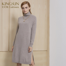 Fantasitic <span class=keywords><strong>Donne</strong></span> Winter Dress Side Split 100% Cachemire Lavorato A Maglia Pullover Vestito per <span class=keywords><strong>2018</strong></span>