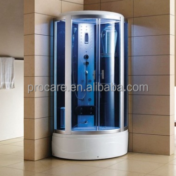 blue color steam shower units with round corner shower unitssteam room cabin - Steam Shower Units