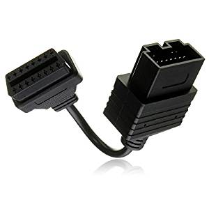 New 20 Pin To 16 Pin OBD 2 Female Car Diagnostic Adapter Connector Cable by Bcn