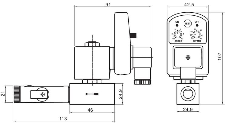 COVNA 1/2 zoll Messing Automatische Ablauf Ventil für Luft Kompressor