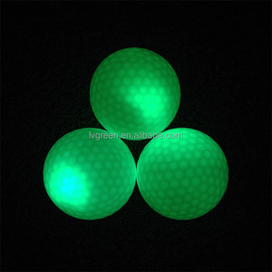 Hot selling novelty two piece LED golf ball/new golf ball wholes custom designed for golf
