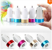 High Speed Universal 2.1A+1A Dual car usb charger Adapter Charger Adapter for iPad and for smart phone mobile phone