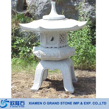 Antique Granite Chinese Stone Outdoor Japanese Lanterns