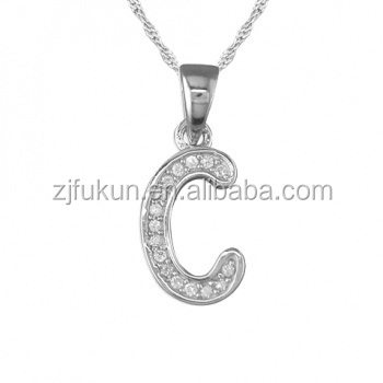 Latest initial letter c necklace sterling silver letter c pendant latest initial letter c necklace sterling silver letter c pendant necklace aloadofball Choice Image