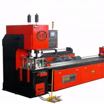 hole punch sheet metal hole punching machine, rotary punching machine with double production lines EMM60A