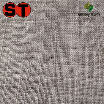Wholesale Polyester Fake Linen Car Upholstery Fabric Linen Cushion