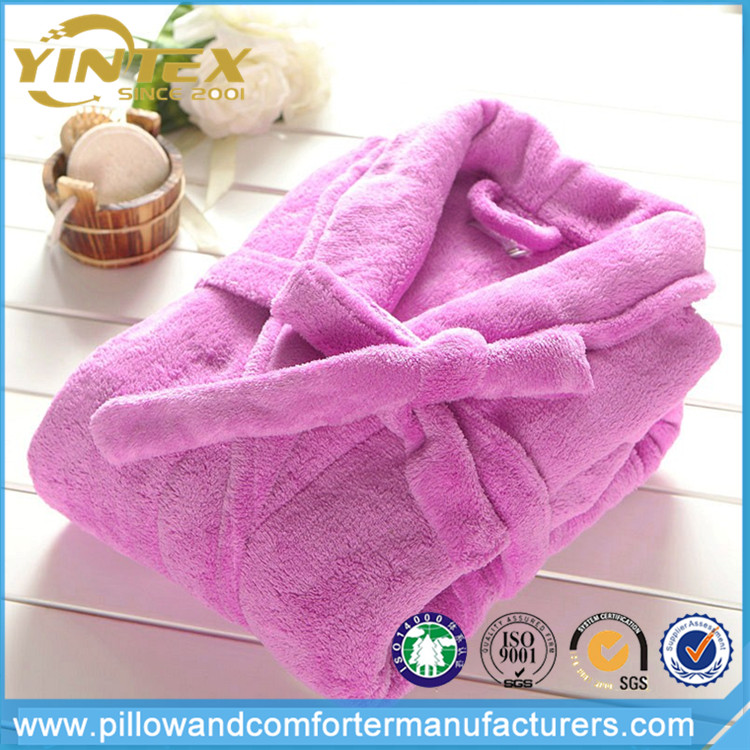 Purple s Chinese Terry Towel Bathrobe Made in China