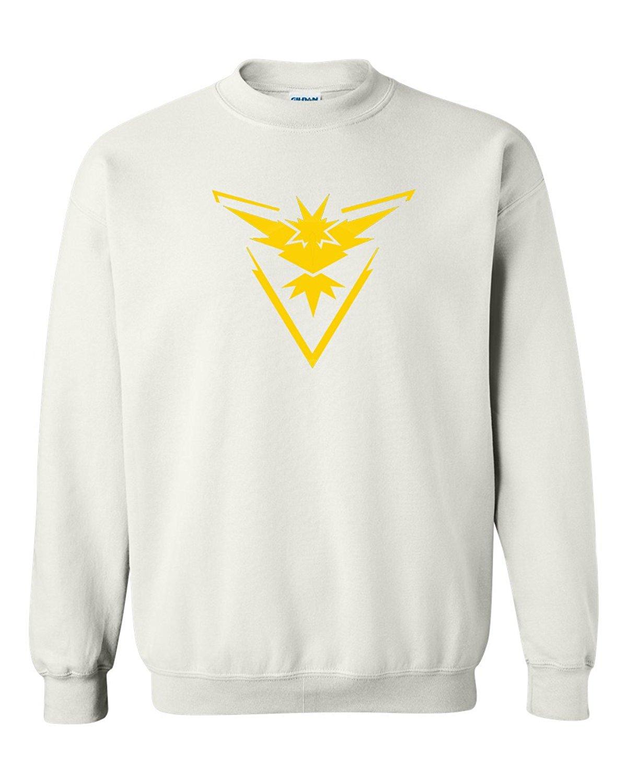 1e904246 Custom Apparel R Us Pokemon Go Gym Team Instinct Yellow Youth Boys Girls  Crewneck Sweatshirt