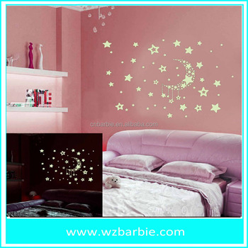 3d fairy wall sticker glow in the dark sticker - buy glow in the dark