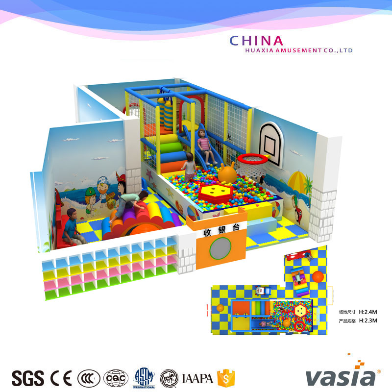 mini soft play area for children playground with ball poll