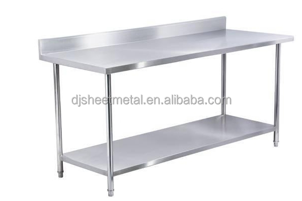 stainless steel kitchen work table with backsplash and under shelf buy stainless steel tablekitchen stainless steel sink work tablestainless steel