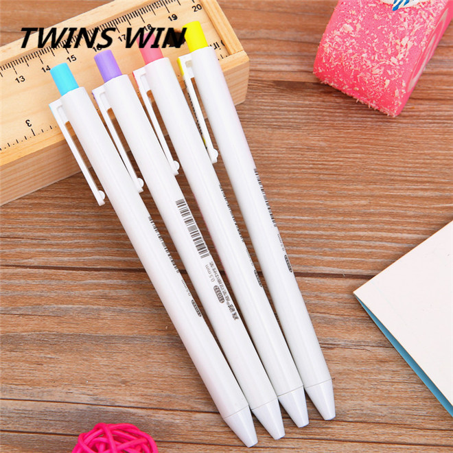 korean newest school stationery promotional personalised cheap eco-friendly plastic ball pens with custom logo