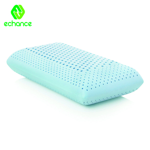 Cool gel micro beads infused zoned Dough memory foam pillow