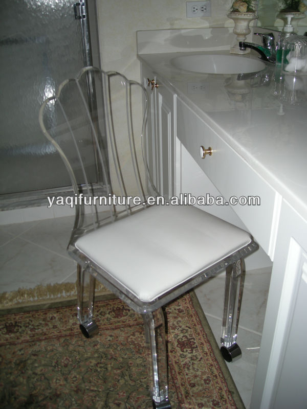vanity chair on wheels. Acrylic Vanity Chair With Wheels  Buy Stools Chairs Clear Product on Alibaba com