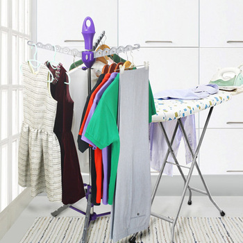 foldable multi hanger clothes airer drying rack indoors