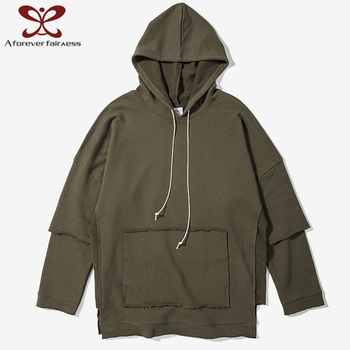 2017Fashion Men's long sleeve pocket hoodie cotton hoodies with hood japanese style hoodie