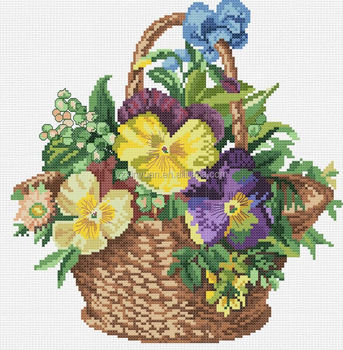 Wholesale plant cross stitch kit printed diy cross stitch ...