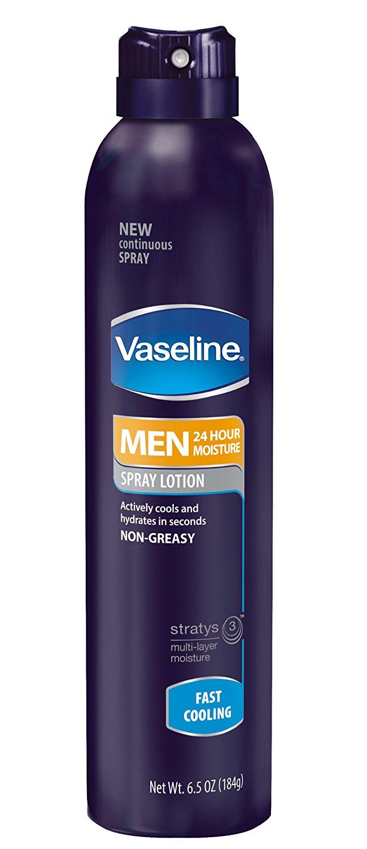 Vaseline Men Spray Lotion, Fast Cooling, 6.5 Ounce