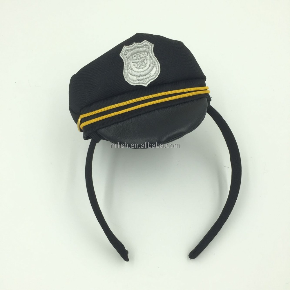 MPA-0202 party carnival Native mini top hat headband of cop