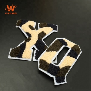 Sew on Customized Chenille Embroidered Alphabet Varsity Letter Patches for Garment