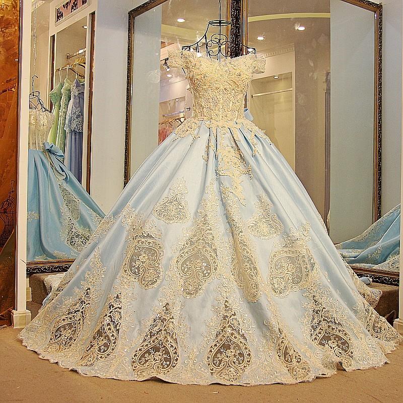 Ls54711 Royal Blue Off Shoulder Bling Bling Prom Dress Satin Lace Up ...