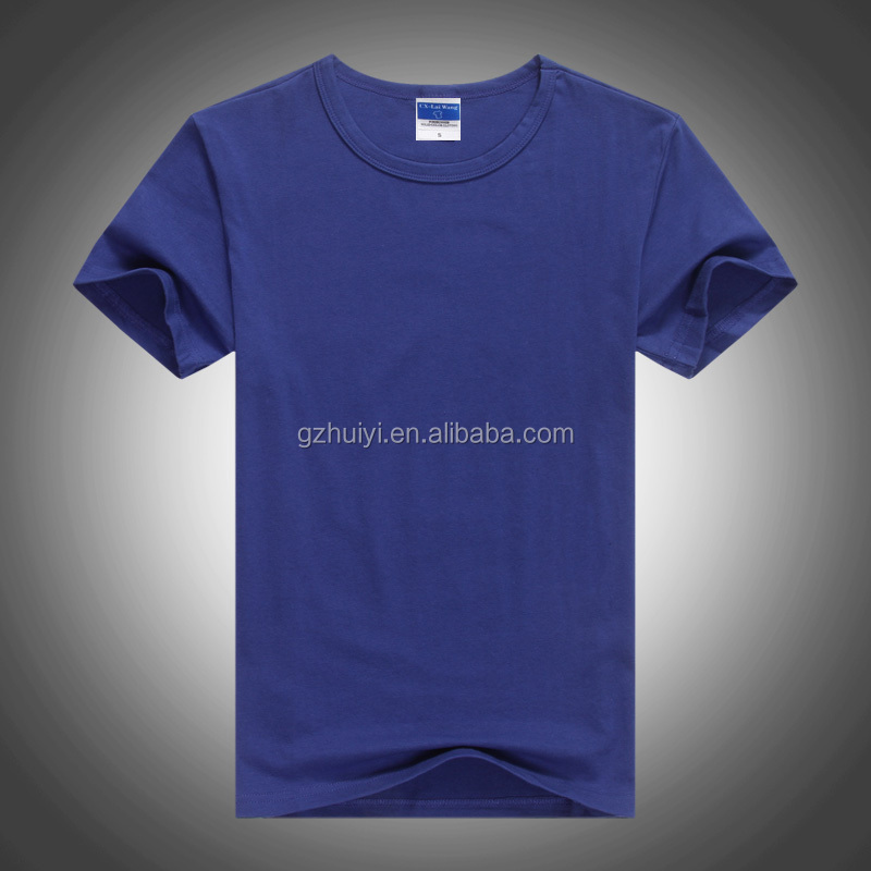 Wholesale 100% cotton plain dyed personalised tee shirts