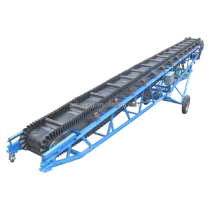 Portable long distance belt conveyor for coal & fertilizer & stone