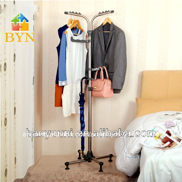 baoyouni soporte de estante de la ropa hermosa de en rack rotatorio estante de la
