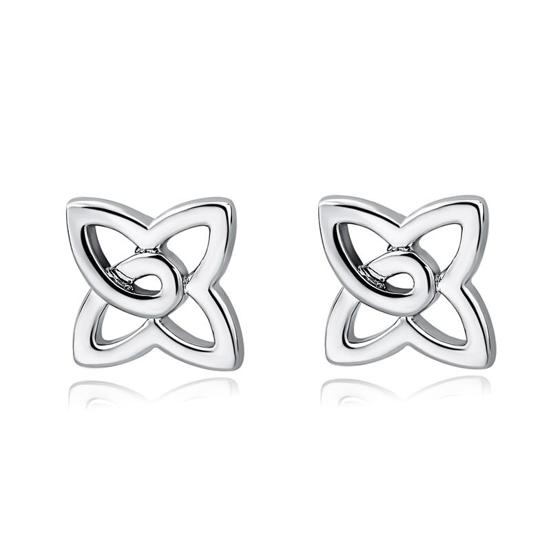 495799347f33 La última rosa de moda de acero inoxidable de plata Chapado en pendientes  hechos a mano