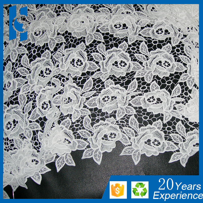 2015 embroidery designs high quality cord lace fabric african guipure lace retail for aso ebi