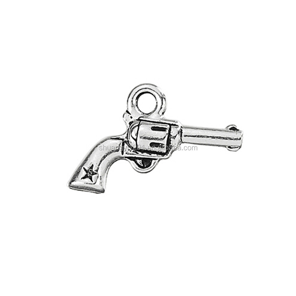 Jewelry Making Finding Accessory Metal Gun Pendants Jewelry Gun Charm