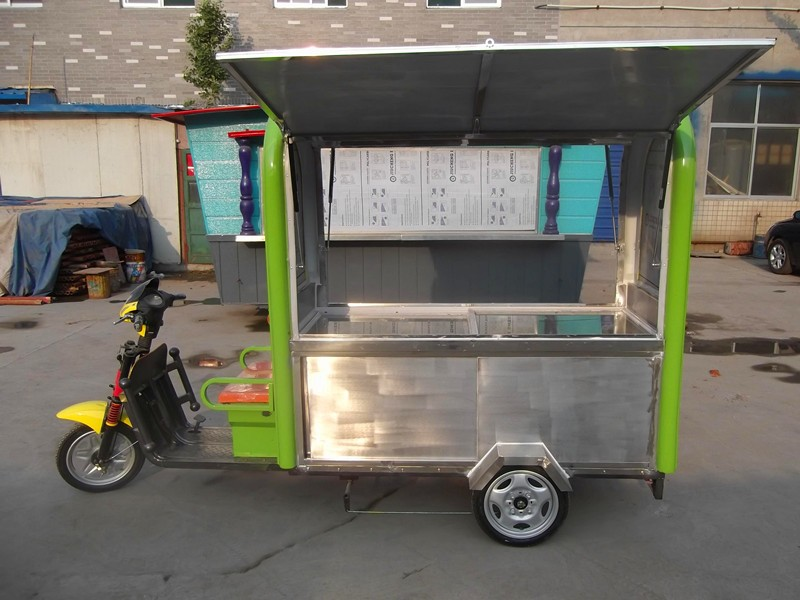 Wholesale China Stainless Steel Electric Tricycle Mobile