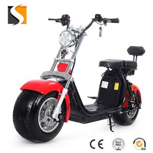 2018 YIDE Supply Theftproof fat tyre 1000W citycoco electric scooter with shock absorber for adults