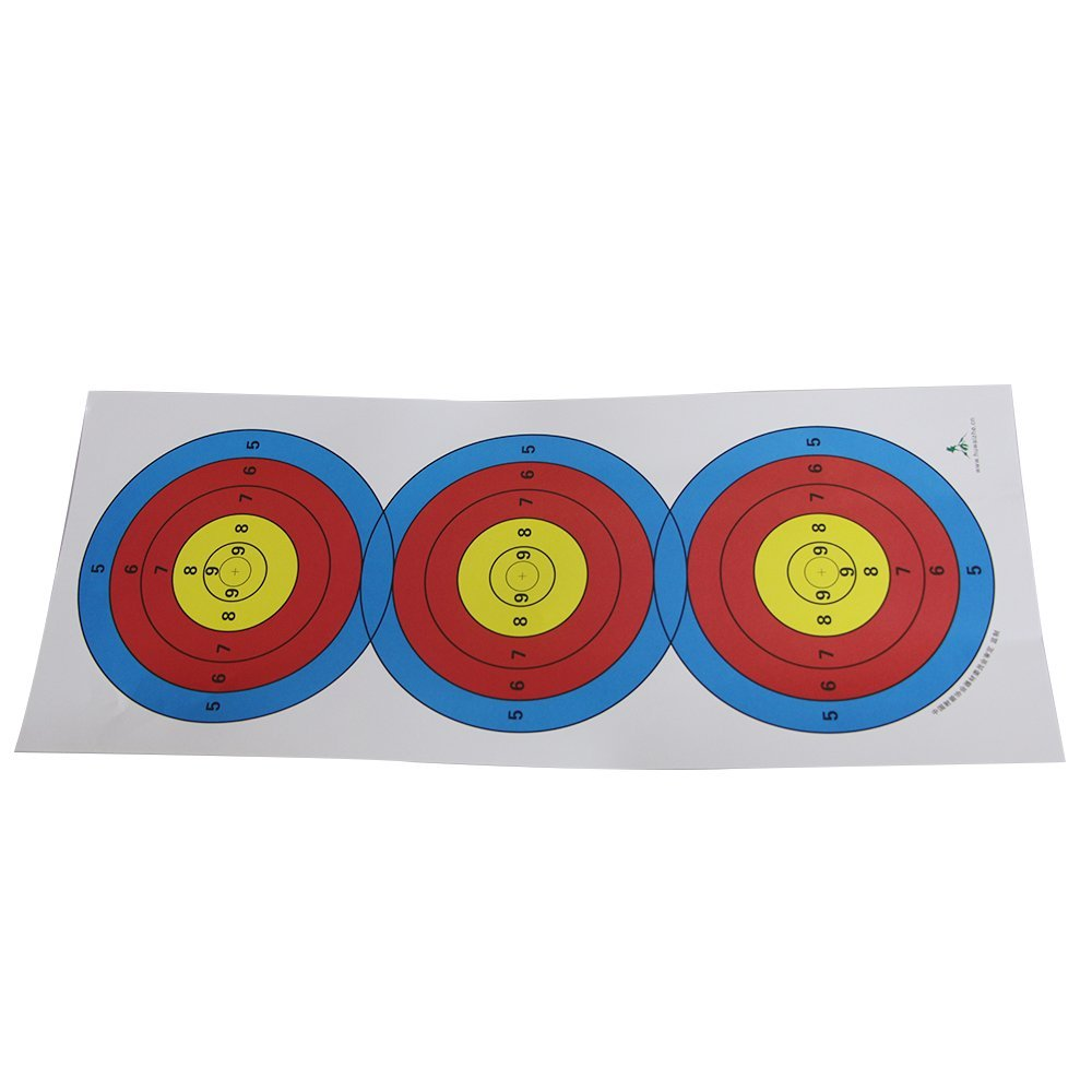 24''x10''Paper Archery Targets for Shooting Bullseye Hunting Bow Gun Target Bullseye 10pack