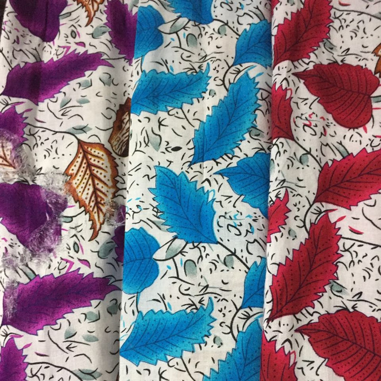 In stock item: 100% cotton printed silk lawn voile lady fashion shirt fabric voile fabric in keqiao warehouse