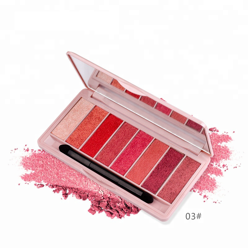 Cosmetica Import China Private Label Make Up Cosmetica 8 Kleur Pressed Glitter Eyeshadow Palette