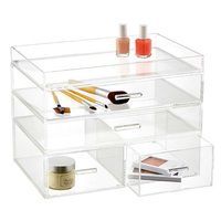 Acrylic 5 Drawers Cosmetic Organizer for Vanity Cabinet Makeup Beauty Products Jewelry Holder Display Storage Holder Box