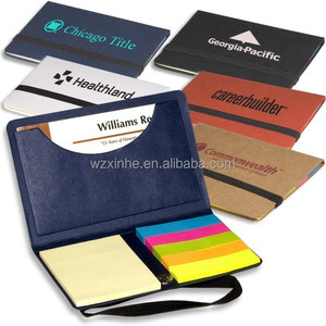 mini sticky notes with page maker ,card holder and elastic strap