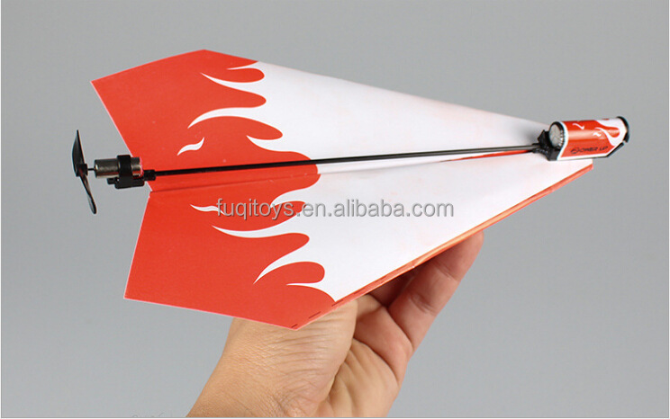 Hot selling power up paper airplane aircraft toys for kids