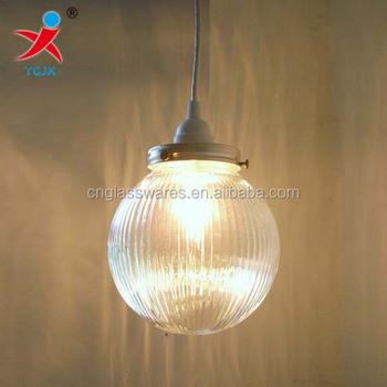 glass ball pendant lighting. GLASS BALL PENDANT LIGHT WITH STRIATED LAMP SHADE Glass Ball Pendant Lighting
